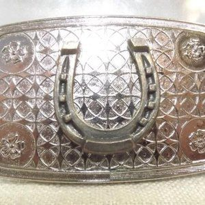 Other - Western Brass Horseshoe Silver-Tone Metal Buckle